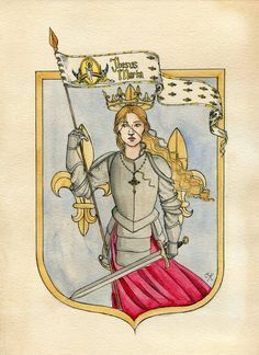 Joan of Arc by Kitty-Grimm Joan D Arc, Saint Joan Of Arc, St Joan, Catholic Art, Catholic Saints, Religious Art, Patron Saints, Warrior Girl, Fantasy Warrior