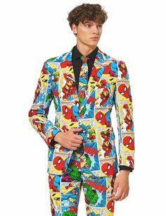 4-Piece Stir Clothing Co Mens Patriotic American Flag Prom Suit