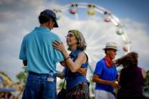 Dancing a Cajun waltz at the Breaux Bridge Crawfish Festival