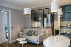 Parisian apartment with contemporary furniture collection Camille Hermand Architectures