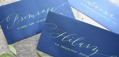 Event Calligraphy | Nancy Hopkins Handlettering