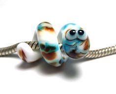 Glasperlenschmuck - Lampwork Schlange *Pastell-Beads* - ein Designerstück von SvenjaKretschmer bei DaWanda