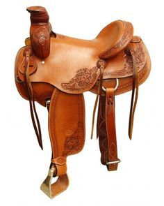 This saddle features Argentina cow leather with a floral and sperpentine tooled design on skirts, fenders, pommel and cantle and has a smooth leather Roping Saddles, Barrel Racing Saddles, Barrel Saddle, Barrel Racing Horses, Barrel Horse, Horse Saddles, Wade Saddles, Western Pleasure Horses, Western Horse Tack