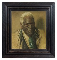 A Chieftain of the Arawa Tribe Wharekauri Tahuna Aged A Noble Relic of a Noble Race, C.F Goldie Lot 45 Polynesian People, Herald News, Maori People, Japanese Warrior, New Zealand Art, Nz Art, European Paintings, Art Market, Traditional Art