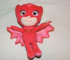 New PJ Masks Plush Toy Stuffed Animal Disney Junior Owlette Owl Pink Red…