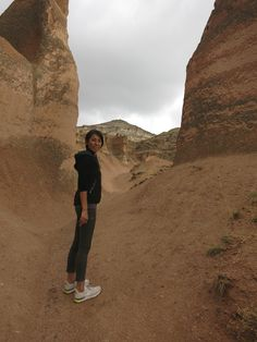 Hiking tour at Cappadocia. Getting red after the rain.