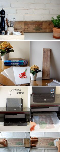 How to transfer printed images to wood, paper, glass, candles, etc....