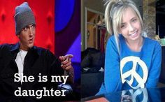 Eminem's daughter is adorable! The Real Slim Shady, Eminem, Getting Old, Growing Up, Beautiful People, Haha, Daughter, Feelings, Celebrities