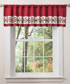 Take a look at this Red & Chocolate Sienna Valance by Lush Décor on #zulily today! $16.99, regular 27.00
