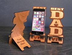 Gift For Dad Phone Stand with Personal Message On by PhoneTastique