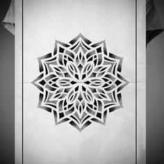 Search inspiration for a Geometric tattoo. Mandala Tattoo Men, Geometric Mandala Tattoo, Mandala Flower Tattoos, Geometric Tattoo Design, Geometric Drawing, Mandala Tattoo Design, Mandala Dots, Mandala Drawing, Flower Mandala