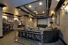 Home Theatre Custom Design and Bar Best Home Theater, Home Builders, Custom Homes, Theatre, Places To Go, Custom Design, Bar, Layouts, Building
