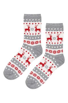 $6 reindeer fairisle ankle socks | Topshop