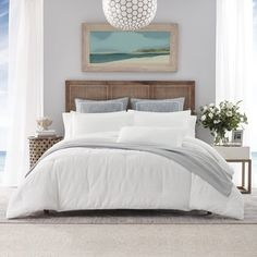 Nautica Hampton Twin/twin Xl Comforter Set In White - A welcome palette cleanser to any bedroom, the Nautica Hampton Comforter Set is sure to do the job. The simple, yet elegant waffle stripe texture in crisp white feels cool and inviting. Twin Comforter Sets, King Duvet Cover Sets, White Duvet Covers, King Comforter, Duvet Sets, Queen Duvet, Bed Styling, White Bedding, Twin Twin