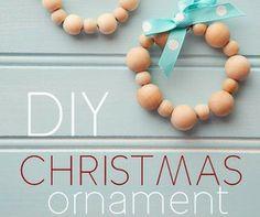 DIY Wood Bead Ornaments