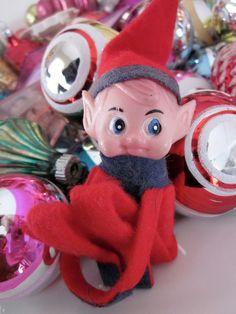 The original Christmas Elf.wonder where mine is? Retro Christmas, Christmas Love, Christmas Crafts, Christmas Decorations, Christmas Ornaments, Holiday Decor, Vintage Ideas, Vintage Stuff, Vintage Love