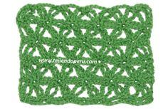 Tutorial: punto fantasía con flores de cadenetas entrelazadas para tejer a crochet!