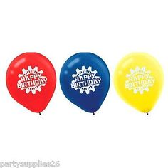 "TRANSFORMERS BIRTHDAY PARTY SUPPLIES 12"" 30 CM 6 X HELIUM QUALITY LATEX BALLOONS in Home"
