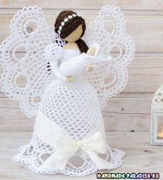 Best 12 Thanks Crochet Christmas Decorations, Crochet Ornaments, Christmas Crochet Patterns, Crochet Snowflakes, Crochet Angel Pattern, Vintage Crochet Patterns, Crochet Angels, Crochet Diy, Thread Crochet