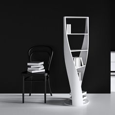 The MYDNA has swivel composition that seems to stretch and bend within your room. This athletic piece is cylindrical with four shelves for heirloom editions, new favorites, and poetry anthologies of your choosing. Modern Bookshelf, Bookshelves, Futuristic Bedroom, Elle Decor Magazine, Mid-century Modern, Modern Design, Mid Century Modern Furniture, Woodworking Furniture, Cool Furniture