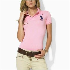 polo ralph lauren discount Women\u0026#39;s Classic Big Pony Short Sleeve Polo Shirt Pink [Shop 2377