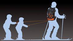 Рюкзак-упряжка, чтобы катать детей - http://things.lifehacker.ru/2014/02/07/skiing-backpack/