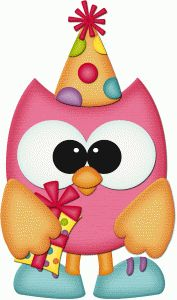 Silhouette Online Store - View Design #56073: birthday owl holding gift pnc