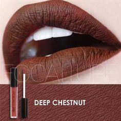 25 Colors Matte Liquid Lipgloss Brand FOCALLURE Glitter Metallic Lipstick Makeup Waterproof Cosmetics Lips Gloss
