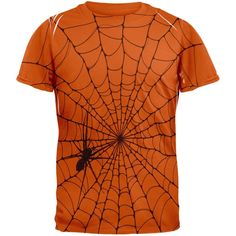 Halloween Giant House Spider Spider Web All Over Texas Orange Adult T-Shirt