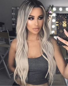 Shop our online store for blonde hair wigs for women.Blonde Wigs Lace Frontal Hair Silver Blonde Bob From Our Wigs Shops,Buy The Wig Now With Big Discount. Beauté Blonde, Brown Blonde Hair, Blonde Waves, Platinum Blonde, Platnium Blonde Hair, Frontal Hairstyles, Wig Hairstyles, Pinterest Hair, Silver Hair