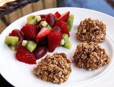 Banana Oatmeal Bites: At 74 calories per bite, these banana oatmeal bites still pack a punch when it comes to feeding your tired body: 11 grams of carbohydrates and 2 grams of protein (have two or three or eat alongside fruit and Greek yogurt).