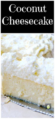 Coconut Ricotta Cheesecake. A wonderful fluffy, soft & creamy baked cheesecake, out of this world! | Lovefoodies.com