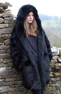 Fur hooded coat, Hooded coats and Faux fur on Pinterest