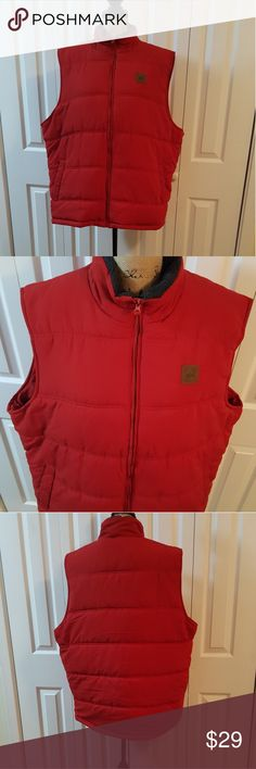 Field and Stream Vest Red Thermal Jackets & Coats Vests