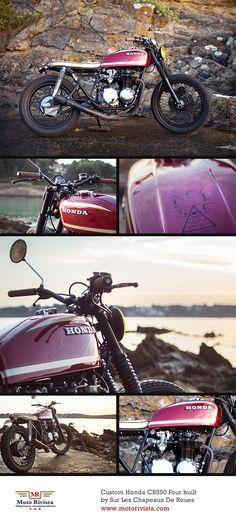 Custom #Honda CB550 Four by Sur Les Chapeaux De Roues ~ featured on Moto Rivista