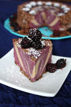 Blackberry banana ice cream cake. Raw, vegan, gluten free, RECIPE