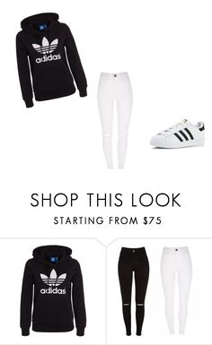 """""""X"""" by xyoumakemesmilex ❤ liked on Polyvore featuring adidas Originals and adidas"""