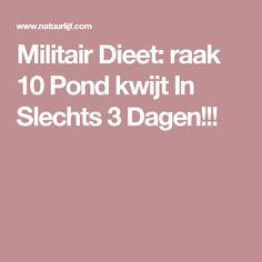 Militair Dieet: raak 10 Pond kwijt In Slechts 3 Dagen!!!