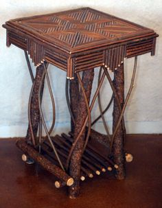 Unique and natural end table