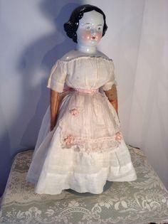 Wonderful Antique 1880's Era China Head Doll w Orig Clothes   eBay