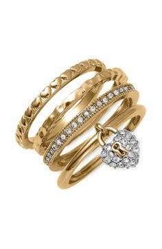 Juicy Couture stack rings