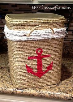 Love the idea of making a custom tote like this - maybe a different starting container though! Could line with fabric too.