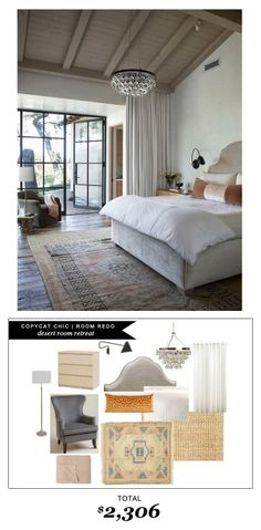 #CopycatchicRoomRedo by @Chelsea Rose Rose Horsley | Yours Truly  | Desert Room Retreat for $2306