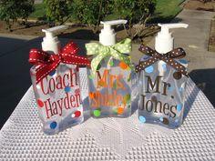 Teachers Personalized Hand Sanitizer Children by santasgiftshoppe