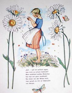Im Blumenhimmel.  1929.Else Wenz-Vietor.