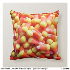 Halloween Candy Corn Photograph Throw Pillow Halloween Candy, Halloween Gifts, Custom Pillows, Decorative Throw Pillows, Candy Corn Crafts, Pumpkin Pillows, Halloween Pillows, Candyland, Create Yourself