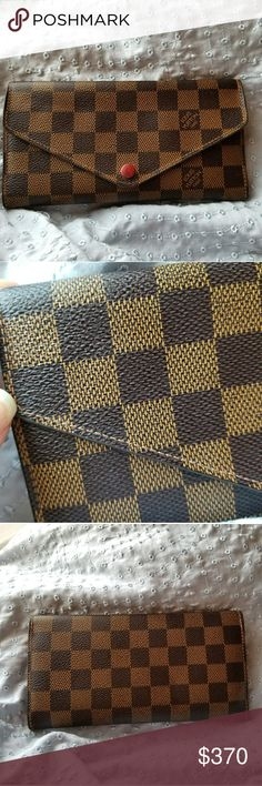 Louis Vuitton wallet 100% authentic LV wallet. Sell with dust bag. Please look at the picture clearly because the button has a little bit scratch. Overall very good condition. Has initial inside... Louis Vuitton Bags Wallets