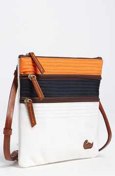 Dooney & Bourke Triple Zip Crossbody Bag available at #Nordstrom