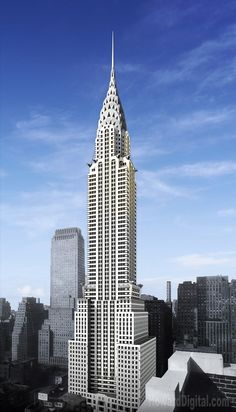 Chrysler Building in New York City is an Art-Deco Style skyscraper in New York City. New York City Buildings, Art Deco Buildings, Famous Buildings, Famous Structures, Chrysler Building, Manhattan New York, Manhattan Skyline, Lower Manhattan, Photo D'architecture