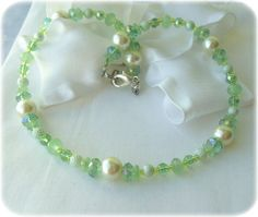 Princess Tiana girls necklace Swarovski crystals and by abitmiller